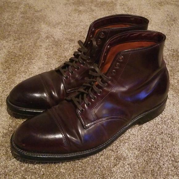 7a7f69fab20 Alden 4060 Cap Toe Boot Color 8 Shell Cordovan